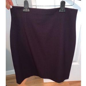 Tahari Arthur S. Levine Petite Dark Plum Skirt